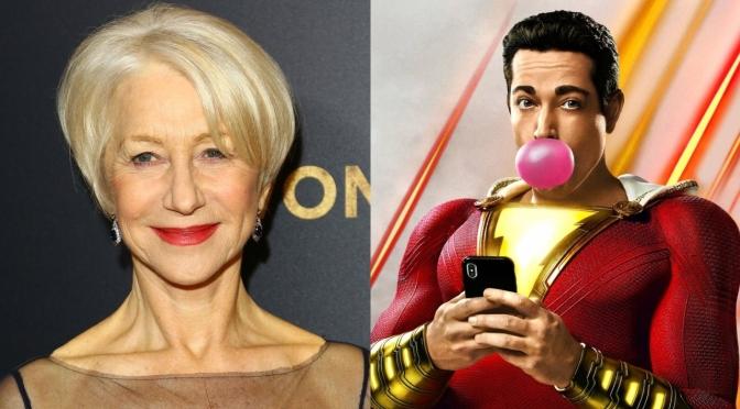 Shazam 2 | Helen Mirren aparece em novas fotos do set