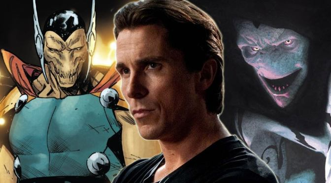 Christian Bale é visto como Gorr no set de Thor 4